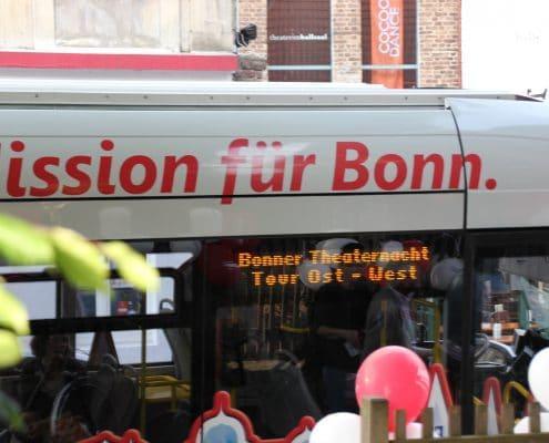 SWB Bus und Bahn ist Partner Bonner Theaternacht